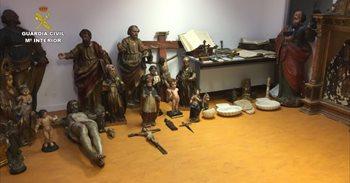Desarticulada una banda dedicada al robo de obras arte sacro
