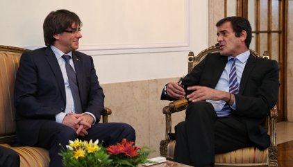 Puigdemont es reuneix amb l'alcalde president de Porto
