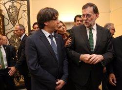 Puigdemont diu que un Estat català tindria la mateixa connexió que Espanya i Portugal (JORDI BEDMAR PASCUAL/GOVERN)
