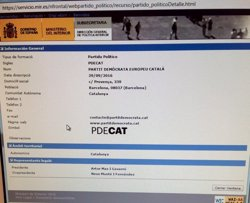 PDC afirma que Partit Demòcrata Europeu Català ja consta inscrit en el web de registre (TWITTER MARTA PASCAL (PDC))