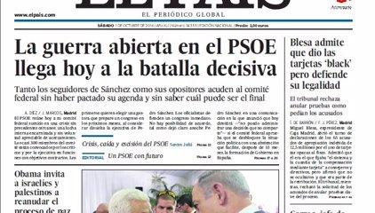 Las portadas de los periódicos de hoy, sábado 1 de octubre de 2016