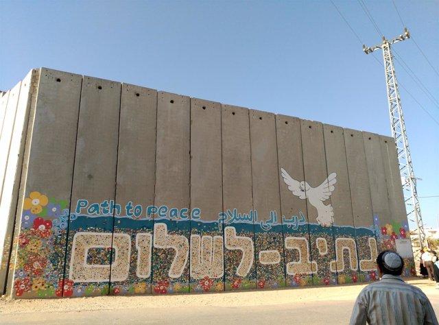Muro en la frontera entre Israel y Gaza
