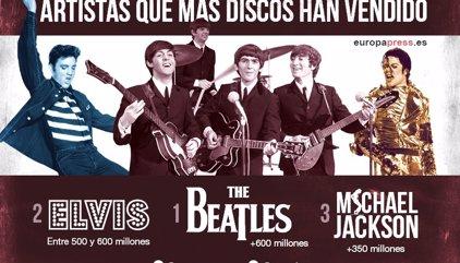 Los artistas que más discos han vendido en la historia de la música