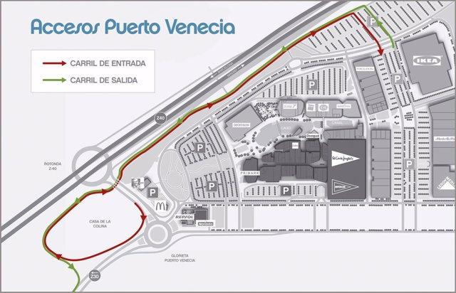 Plano del nuevo acceso a Puerto Venecia
