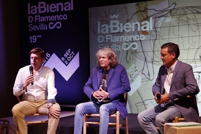 Presentación del espectáculo de José Mercé en la Bienal de Flamenco