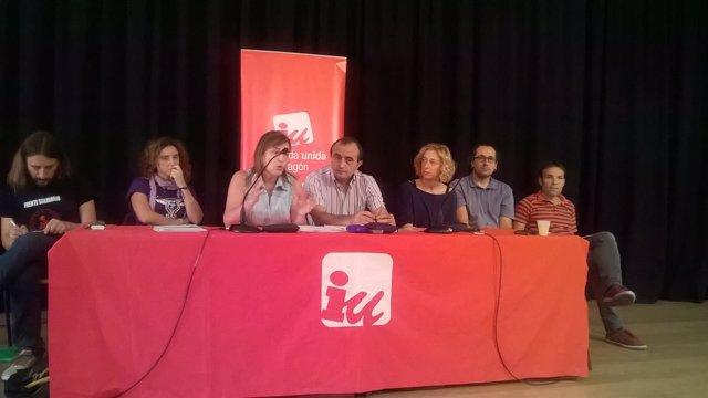 Asamblea de IU con militantes en Zaragoza