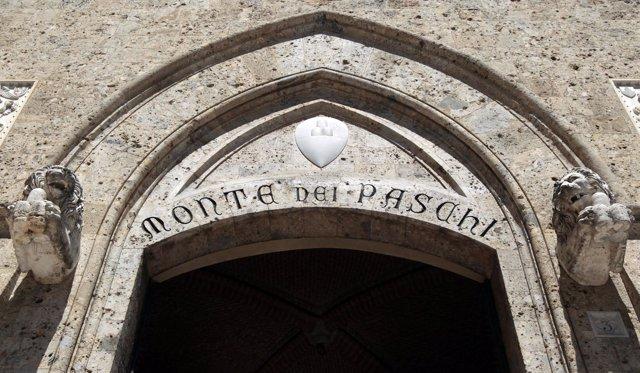 Recurso de la sede de Banca Monte Paschi en Siena (Italia)