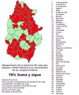 El PSOE de Lugo con Pedro Sánchez