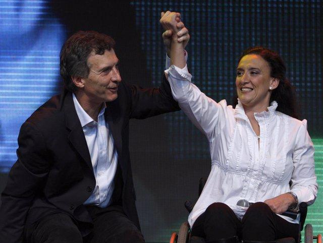Mauricio Macri y Gabriela Michetti en 2009