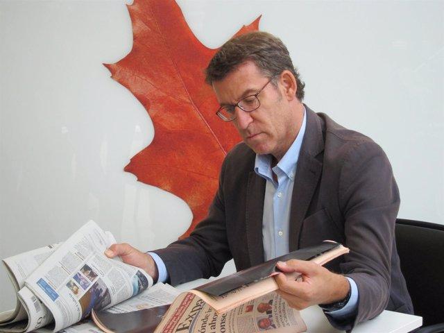 El presidente de la Xunta y candidato popular, Alberto Núñez Feijóo