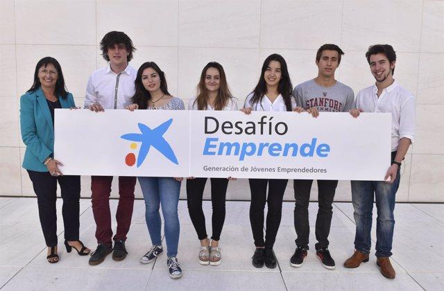Estudiantes de Huesca ganadores del Premio Desafío Emprende