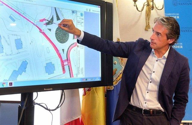 Presentación del carril bici por el túnel de Tetuán (Archivo)