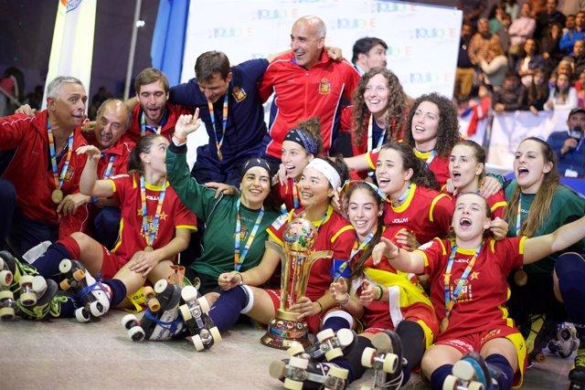 Selección española femenina de hockey sobre patines campeonas mundo Mundial