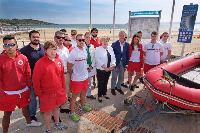 Dispositivo de salvamento en playas