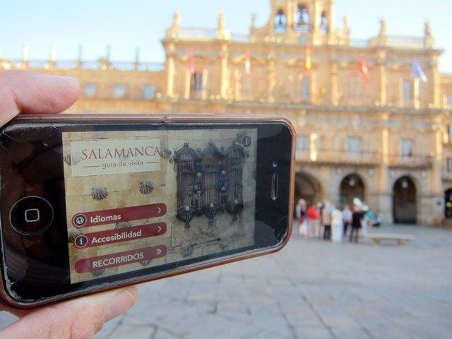 Aplicación 'Salamanca GVAM' en la Plaza Mayor