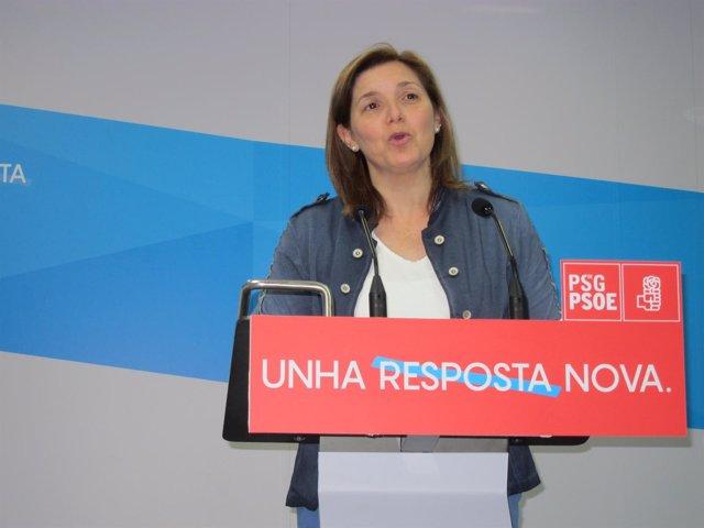 La presidenta de la gestora del PSdeG, Pilar Cancela