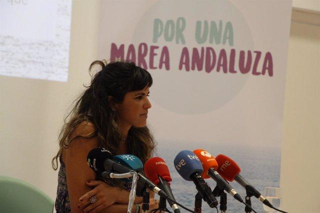 La secretaria general de Podemos Andalucía, Teresa Rodríguez