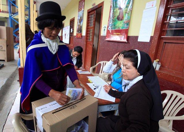 Votación del referéndum sobre el acuerdo Gobierno-FARC