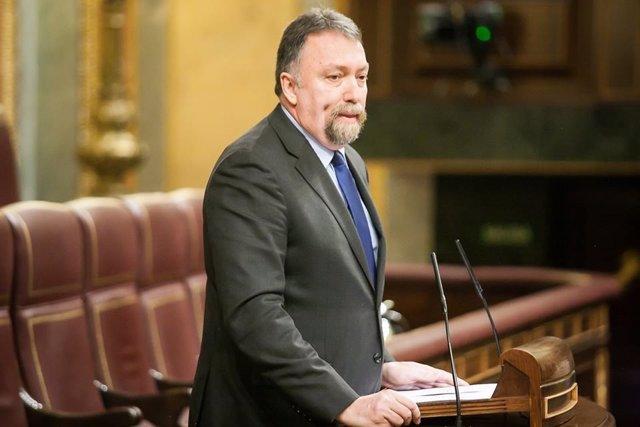 Isidro Martínez Oblanca en el Congreso.