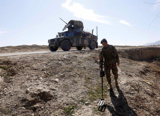 Minas en Afganistán