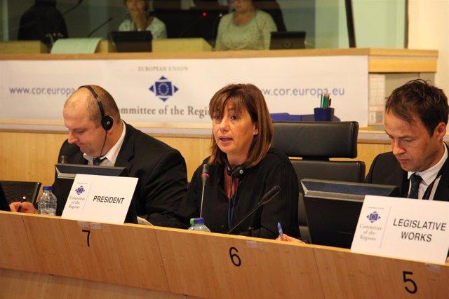 La presidenta del Govern, Francina Armengol, en Bruselas