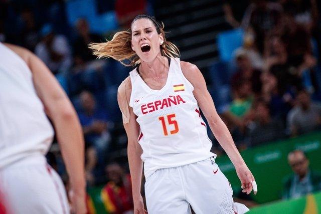 La jugadora española de baloncesto Anna Cruz
