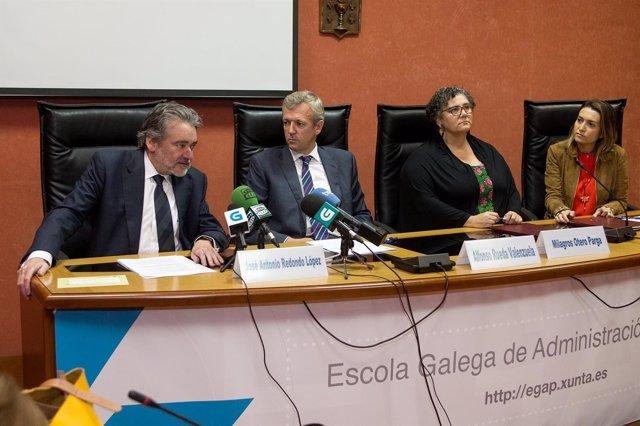 10,30 h.-    O vicepresidente da Xunta en funcións, Alfonso Rueda, asinará un co