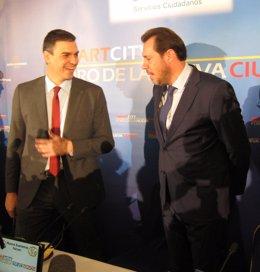 El alcalde de Valladolid con el exsecretario general del PSOE