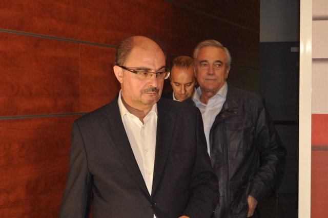 El secretario general del PSOE Aragón, Javier Lambán