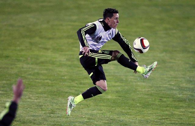Jose Callejón entrena con la selección española