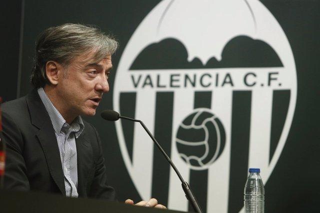 El Director Deportivo Del Valencia CF, Jesús 'Suso' García Pitarch