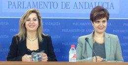 Carmen Lizárraga y Esperanza Gómez, en rueda de prensa