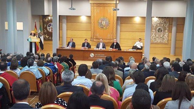 Inauguración del curso universitario en Cáceres