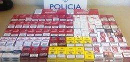 Cajetillas de tabaco de contrabando intervenidas