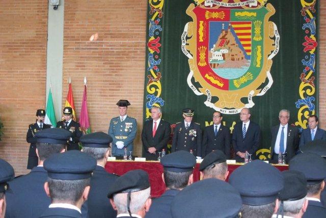 Día de la Policía Nacional Málaga 2016 garijo briones de la torre, ruiz espejo