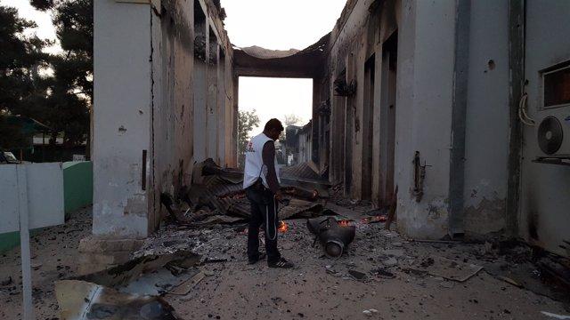 Restos del hospital de MSF en Kunduz