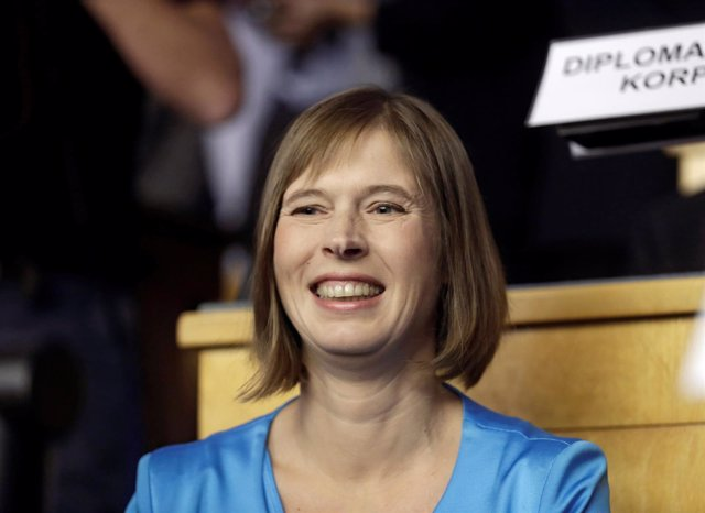 La presidenta electa de Estonia, Kersti Kaljulaid