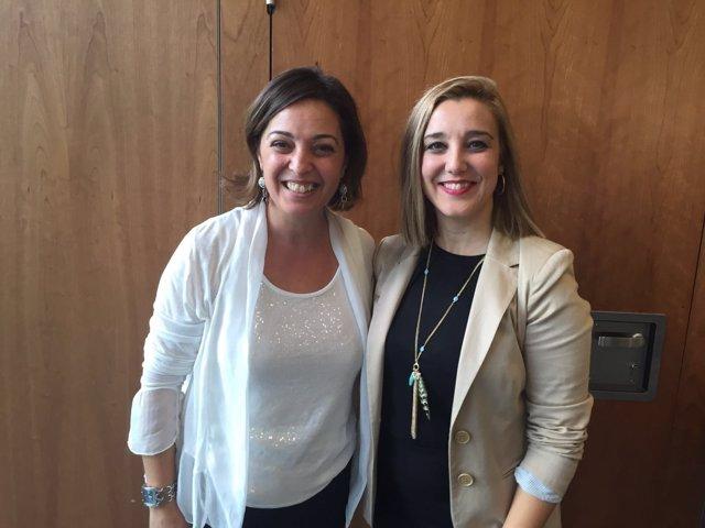 Las alcaldesas de Córdoba y Alcalá.