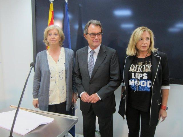 Exconsellera Irene Rigau, expresidente Artur Mas, exvicepresidenta Joana Ortega