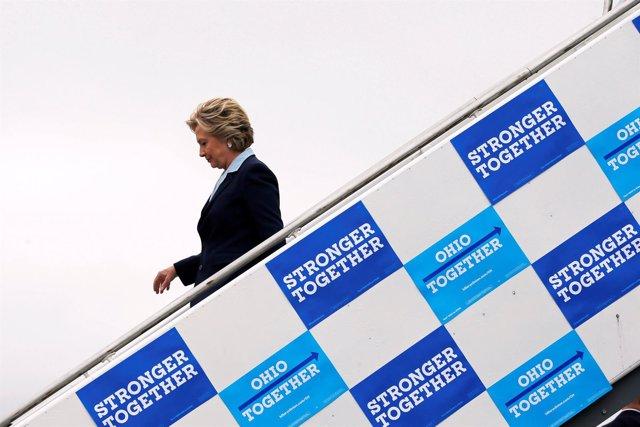 La candidata presidencial demócrata, Hillary Clinton