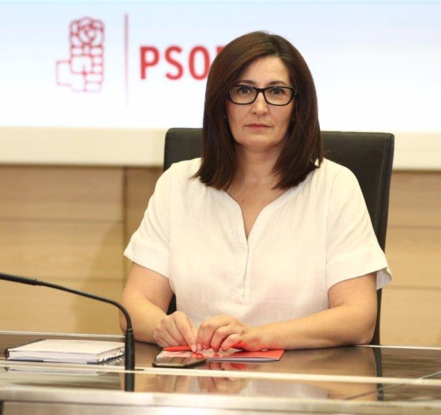 Ascensión Godoy en la reunión de la gestora del PSOE
