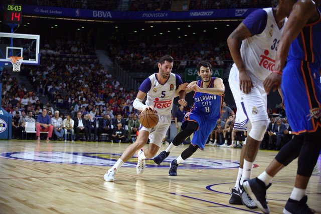Rudy Fernández Real Madrid Alex Abrines Oklahoma City Thunder