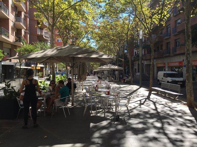 Terrazas de las ramblas Fabra i Puig y Onze de Setembre