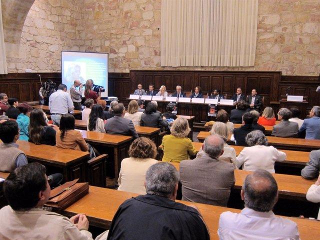 Sesión inaugural del congreso internacional sobre derechos humanos en la USAL.