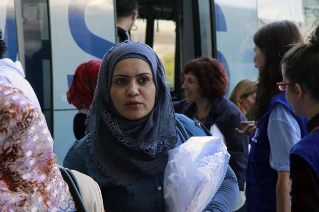 Refugiados Llegan A Madrid