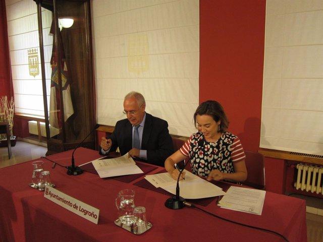 Ceniceros y Gamarra firman el Convenio de Capitalidad