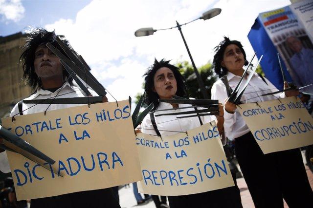 Corrupción Iberoamérica Venezuela  protesta