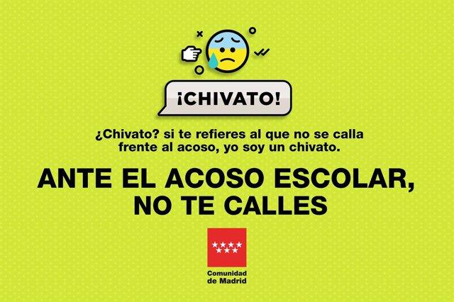 Imagen de la campaña contra el acoso escolar
