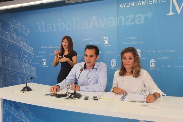 Rueda de prensa posterior a la junta de gobierno local de Marbella