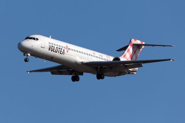 Avión vuelo Volotea aerolínea ruta